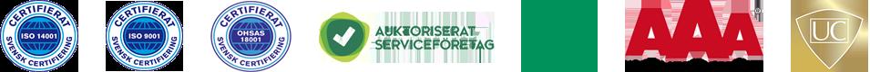 Sydsvenska Städs certifieringar